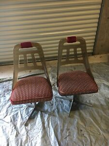 Vintage star chrome swivel chairs