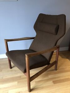 Teak Designer Mcm  Lounge - Armchair with weighted headrest