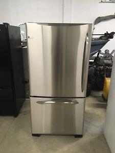 GE stainless steel fridge