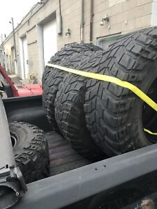 "5 Mickey Thompson Baja Claw tires 315/70/17 (35"")"