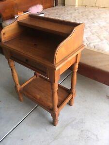 Wood hall table