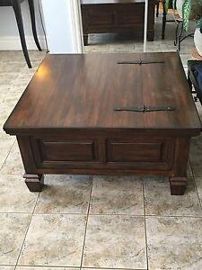 Square coffee table solid wood for sale