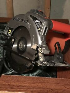 Black and Decker 13 amp skill saw with laser