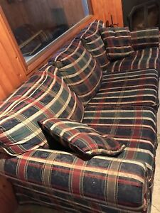 Plaid 3 seater couch