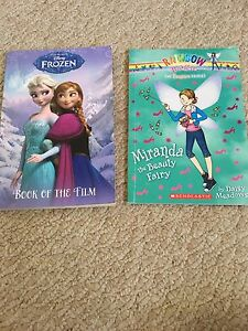 Frozen book, Rainbow Magic and 2 fairy books