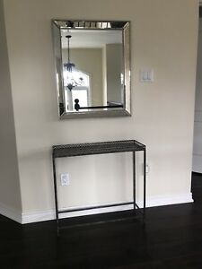 Mirror and accent table