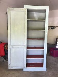 TALL ANTIQUE CUPBOARD, PANTRY CABINET! PINE CUPBOARD. Kitchen