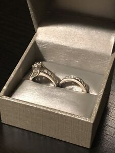 Engagement Ring / Wedding Band Set with Lifetime Warranty!