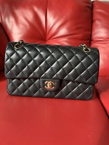 New Condition Chanel Classic Double Flap Lambskin w/GoldTone