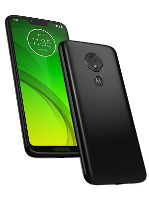 New Motorola Moto G7 Power Black 64GB LTE 4G Android 9.0 Unlocked Sim Free