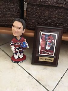 Jose Theodore bobblehead and card