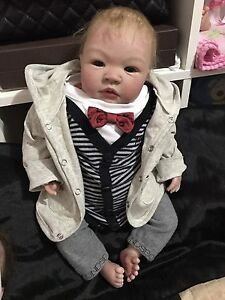 Reborn baby boy Lifelike doll so real Docklands Melbourne City Preview