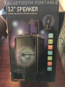 Powerful wireless mulitmedia speaker system LEDparty lights/mic