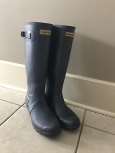 Navy Hunter Boots-Size 9
