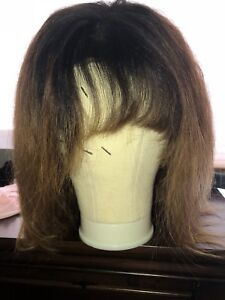 Lace front wig with bangs !