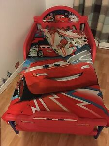 Lightning McQueen (Cars) bed (with mattress and sheets)