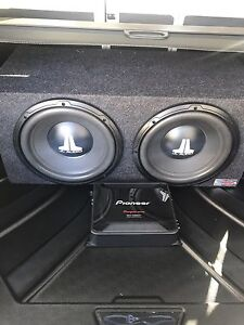 "Brand new JL Audio 12"" subs, Box and powerful amp."