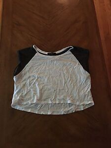 White and black crop top size large