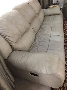 Three prices of reclining leather sofa set