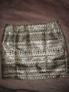 Shimmery Gold Skirt   Size 8