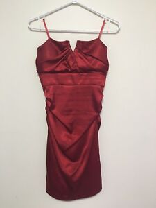Red Silk Dress - Le Chateau