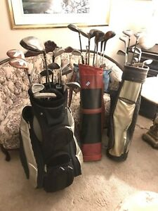 3 sets of Golf Clubs with Bags