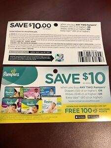 Pampers coupons $10