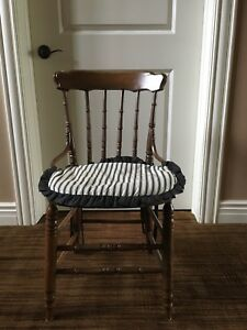 Antique Gunstock Chair