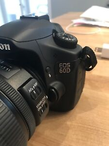 Canon D60 with 15-85 lens in excellent condition