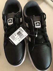 NEW Adidas Junior Adicross IV Golf Shoes Black/White size 3