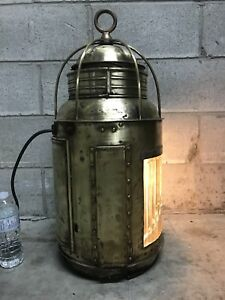 Antique ship lantern off the Great Lakes