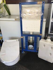 In wall tank, wall mount toilet