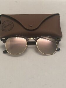 Rose Gold Flash Lens RayBan Clubmasters