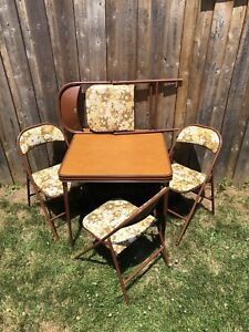 Retro Cooey Metals folding table and chairs (4)