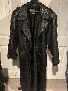 Men's Full Length Leather Coat from The Olde Hyde House