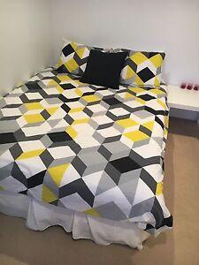 Bedroom setting - bed, desk, side table & cupboard Bassendean Bassendean Area Preview
