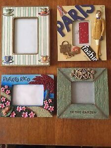 Art.  Decor. Themed Picture Frames (Lot of 4)