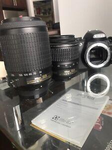 Nikon D3100 lentille 18-55 + 55-200