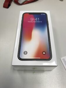 IPHONE X 256gb BRAND NEW IN THE BOX