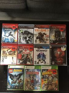 UNOPENED PS3 AND XBOX GAMES