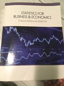 Statistics for Business and Economics$100