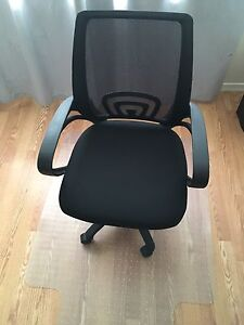 Computer Chair and Plastic Mat