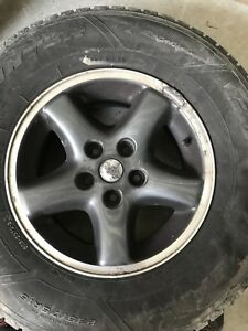Jeep rims and tires $50.00