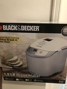 Bread maker by black and decker