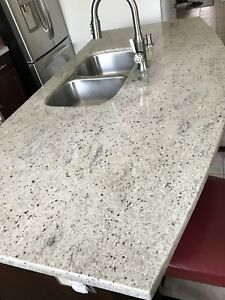 Granite slab with sink