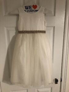 EUC Size 6 Satin & Tulle Flower Girl's Dress