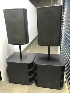 Turbosound Milan Powered Speakers - M15 tops and M18 subs