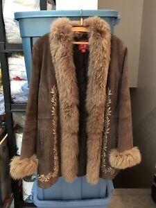 Beautiful brown suede coat