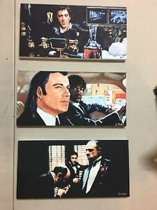 3 frame lamines RARE godfather scarface pulp fiction