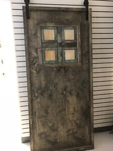 Barn doors with hinges